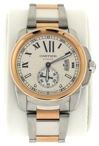 Cartier Cartier Calibre de Cartier Automatic Steel and Gold W7100036 Pre-owned Watch