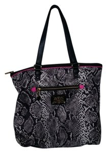 Juicy Couture Tote in grey black and pink