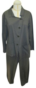 Oska Oska Asymmetrical Jacket in Grey/Green with Matching Pants - Their size 3