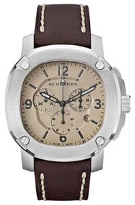 Burberry BRAND NEW BURBERRY BRITAIN LUMINOVA Brown Leather BBY1101