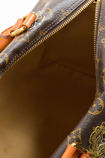 Louis Vuitton Speedy 30 Dentelle Lv Limited Edition Lv Dantelle Satchel in Brown and Gold /Satchel Embroidered / FREE same day ship /