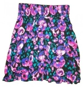 Frenchi Mini Skirt Black floral