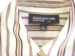 Jones New York Top White/red/gray/blue