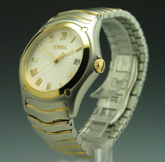 Ebel Ebel Stainless Steel & 18K Yellow Gold Classic Wave 37mm Quartz Watch Ref. 1187F41-0225