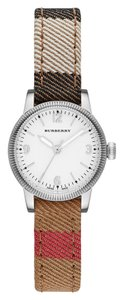 Burberry Burberry Women's The Utilitarian Canvas & Leather Check Silver Tone Stainless Steel Watch BU7863