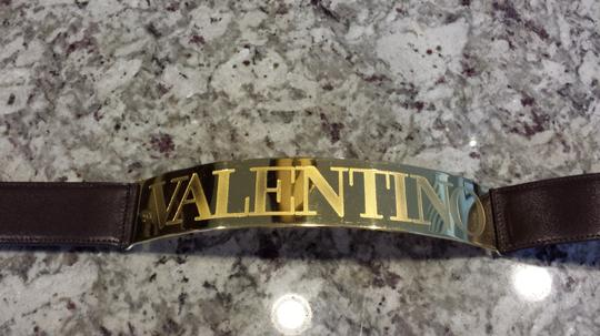 "Valentino Valentino ""rare"" metal engraved gold hardware belt"