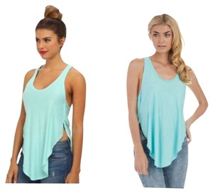 Free People Top Aqua