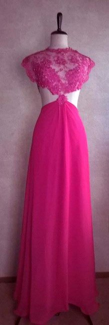 Lisa Nieves Prom Chiffon Chic Lace Ball Gown Party Evening Full Length Dress