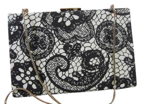 Kate Spade Lace Lace Print Chain Strap Framed Evening Clutch