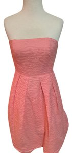 J.Crew short dress Pink Sweetheart Strapless on Tradesy