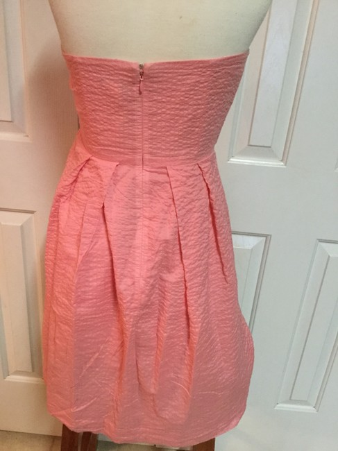 J.Crew short dress Pink Sweetheart Strapless Flirty on Tradesy