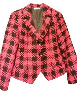 Coldwater Creek Black/Red Houndstooth Blazer
