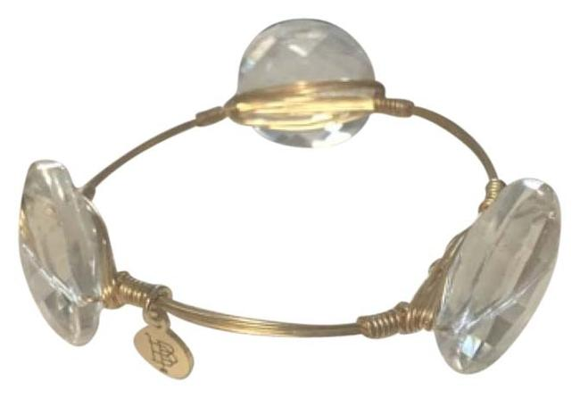 Item - Clear Stone with Gold Band. Bracelet