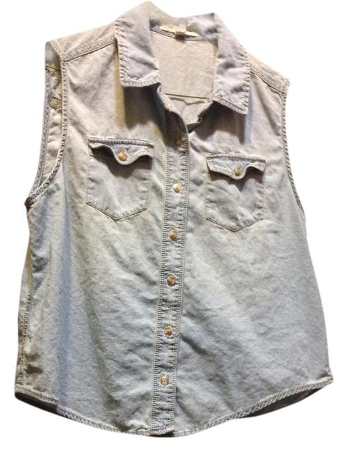 Forever 21 Button Down Shirt Light wash
