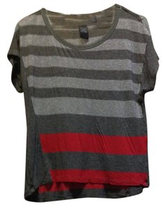 Calvin Klein T Shirt Grey/red