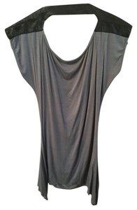 Dresden Open Back Blouse Top Grey