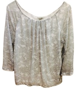 H&M Top Grey / White