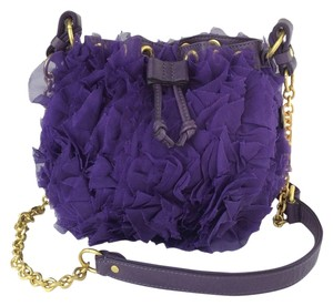 Juicy Couture Chiffon Drawstring Cross Body Bag