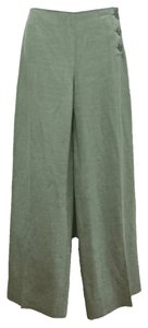 Armani Collezioni Linen Silk Wide Leg Pants Sea Green