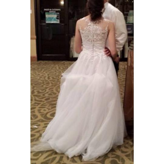Allure Bridals White Tulle 2704 Formal Dress Size 2 (XS)