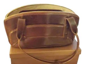 Brahmin Satchel in Chestnut Brown