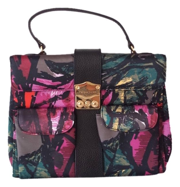 Item - Floral Multicolor Polyester Satchel