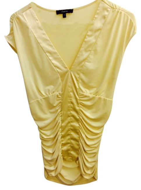 Preload https://item3.tradesy.com/images/express-yellow-blouse-size-8-m-4591567-0-0.jpg?width=400&height=650