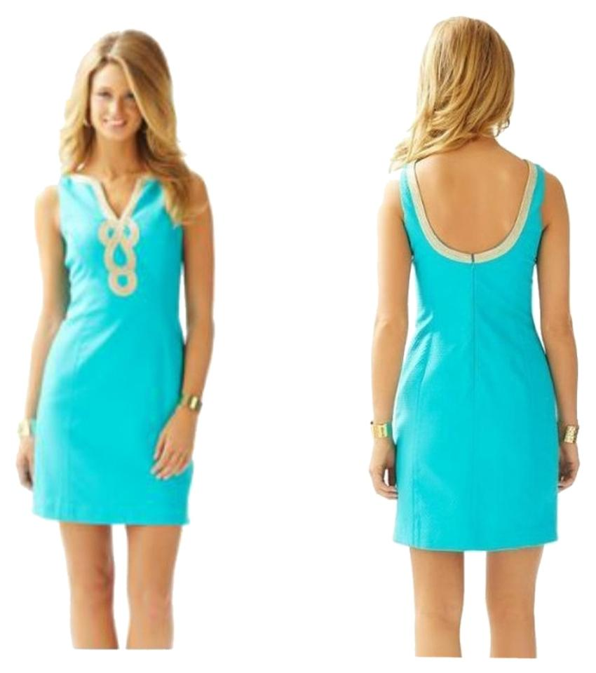 Lilly Pulitzer Blue 2015 Janice Shift In Sea Very Pretty Above Knee ...