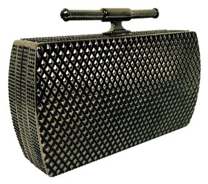 Belstaff Swarovski Leather Grey Clutch