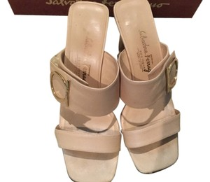 Salvatore Ferragamo Nude/Gold Sandals