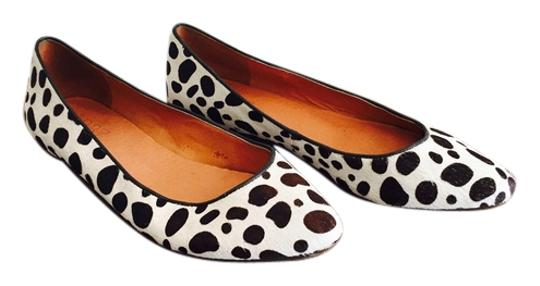 Madewell White/Brown Flats