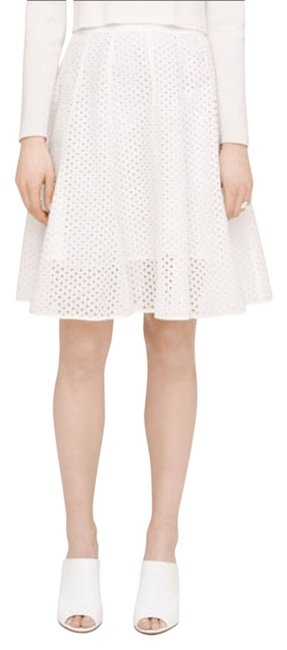 Club Monaco Eyelet Skirt white