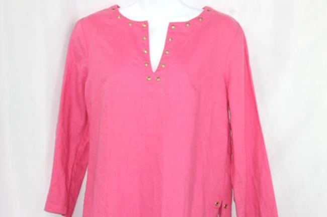 Michael Kors Linen Dark Pink Tunic Top