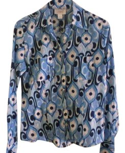 Ann Taylor LOFT Summer Top Blue