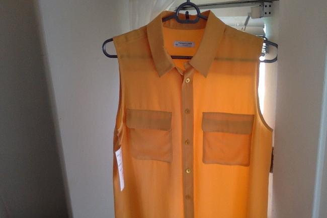 Equipment Button Down Shirt Orange