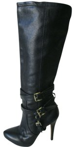 Sam Edelman Leather Knee High Black Boots