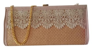 Straw Lace Sweet Clutch Gold Shoulder Bag