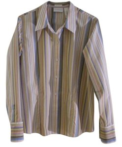 Liz Claiborne Top multi stripe
