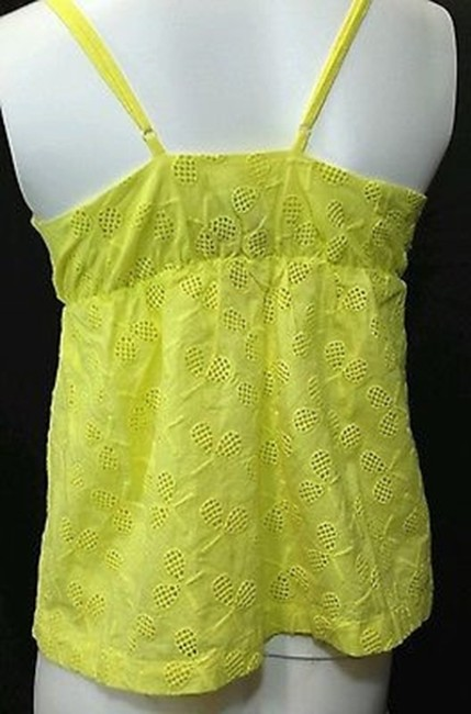 9-HIS STCL Yellow Eyelet Cotton Top