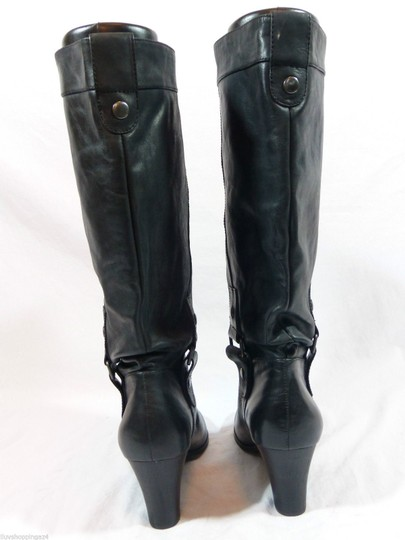 REPORT Leather Black Boots
