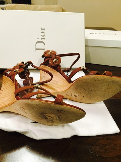 Dior Chevre, Brown Wedges