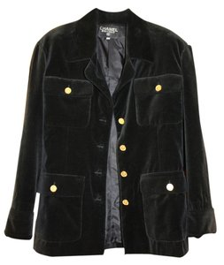 Chanel Vintage Exclusive Black Velvet Jacket
