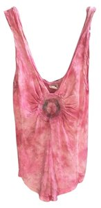 Free People Tie Dye Washy Top Pink