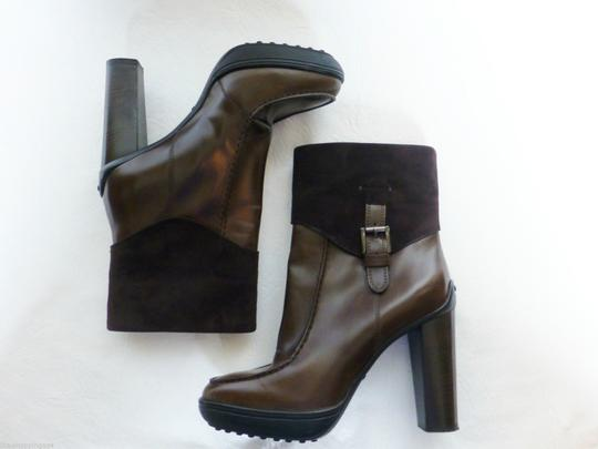 Tod's Platform Suede Leather Brown Boots