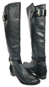 Rachel Roy Leather Riding Knee High Black Boots