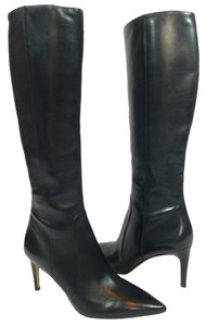 Via Spiga Leather Knee High Black Boots