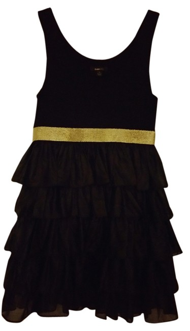 Preload https://item3.tradesy.com/images/black-with-gold-band-around-waist-above-knee-night-out-dress-size-8-m-4593502-0-0.jpg?width=400&height=650