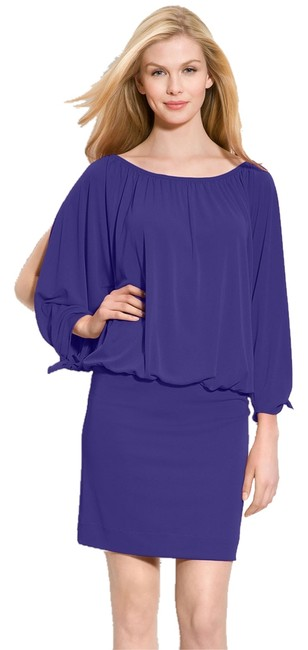 Preload https://item5.tradesy.com/images/nicole-miller-blue-open-sleeve-blouson-above-knee-night-out-dress-size-6-s-4594054-0-0.jpg?width=400&height=650