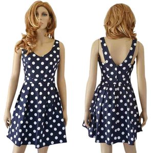 Ixia short dress navy on Tradesy