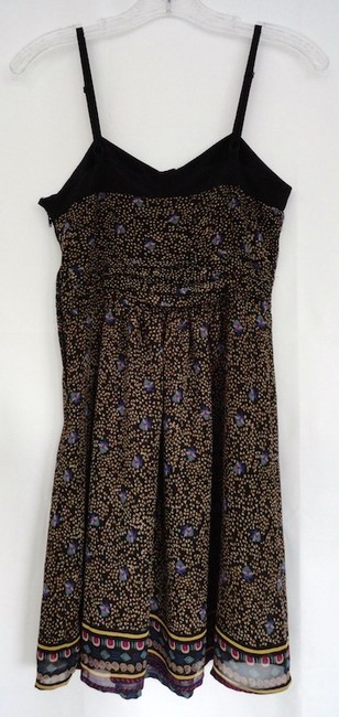 Anthropologie short dress Black with pattern Sleeveless Sundress on Tradesy